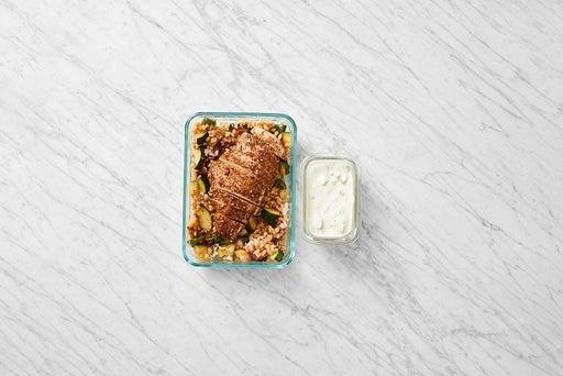 Assemble and Store the Za'atar-Spiced Chicken & Farro