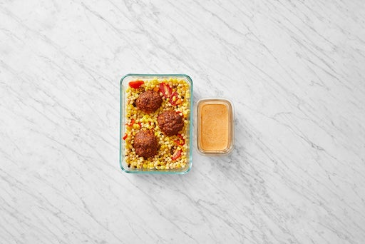 Assemble and Store the Baked Pork Chorizo Meatballs