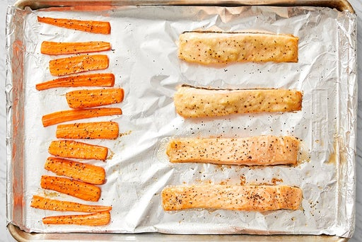 Roast the salmon & carrots