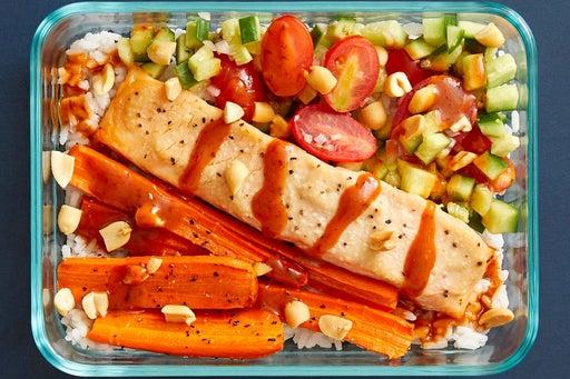 Finish & serve the Miso-Roasted Salmon
