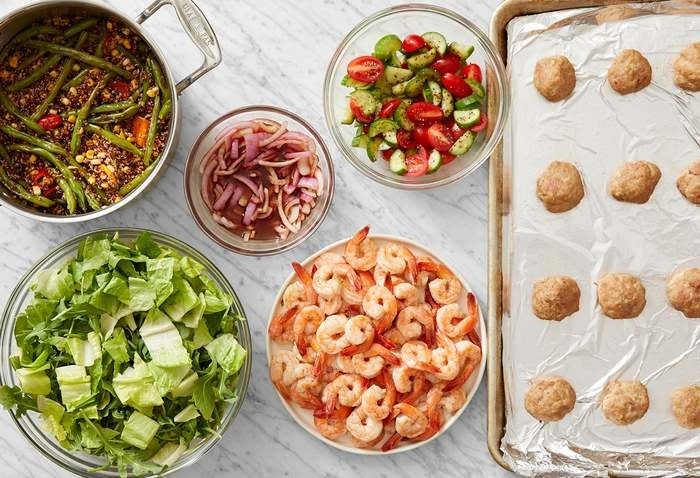 Carb Conscious with Turkey Meatballs & Seared Shrimp