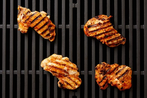 Grill & slice the chicken