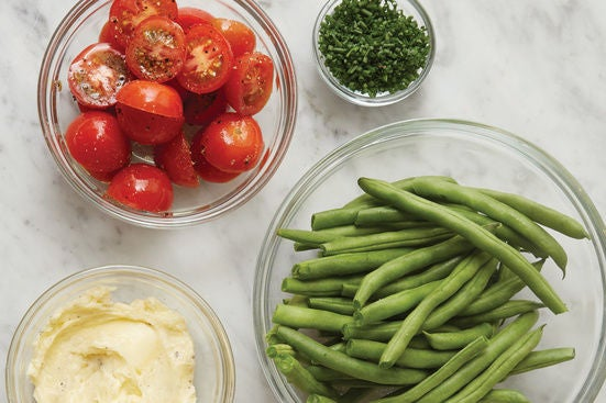 Prepare the ingredients & make the garlic butter: