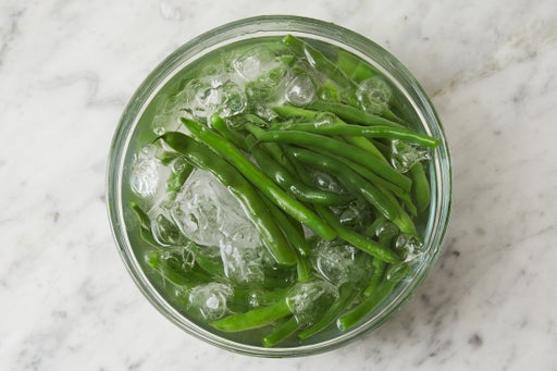 Blanch & shock the green beans: