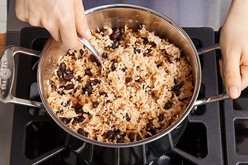 Cook the rice & beans