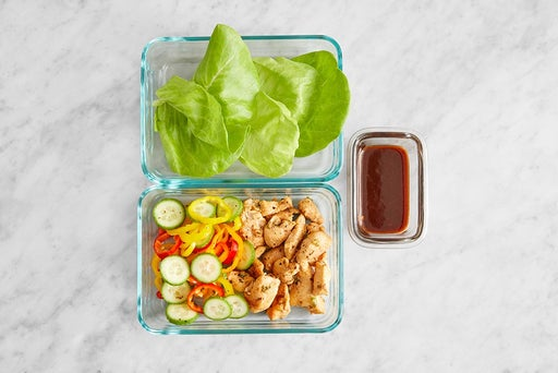 Assemble & store the Asian Chicken Lettuce Cups
