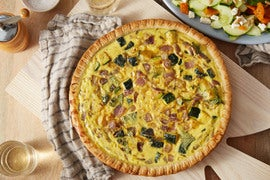 Summer Vegetable Quiche with Cucumber & Sweet Piquante Pepper Salad