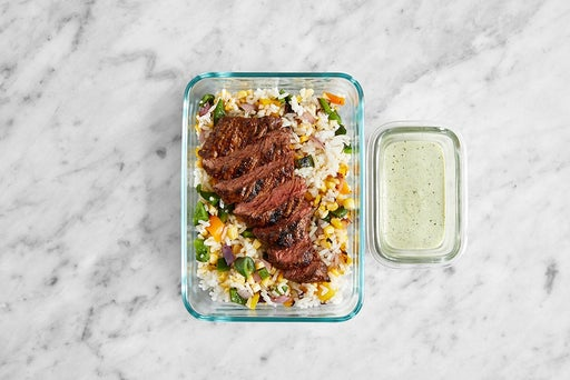 Assemble & Store the Mexican-Spiced Steak
