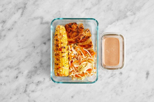Assemble & Store the Grilled Chicken & BBQ Mayo