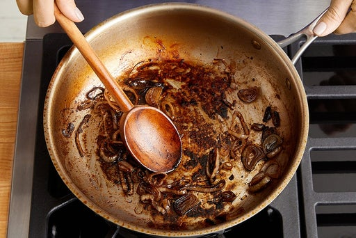 Cook & glaze the shallot