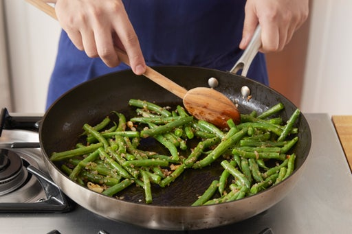 Start the green beans: