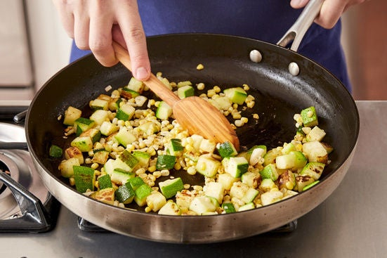 Start the vegetables: