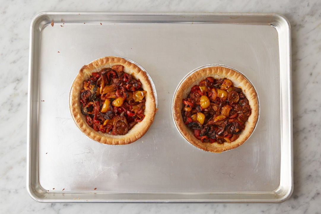 Assemble & bake the tarts: