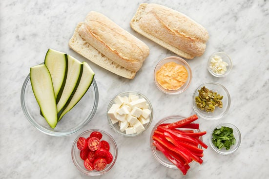 Prepare the ingredients & make the chile mayonnaise:
