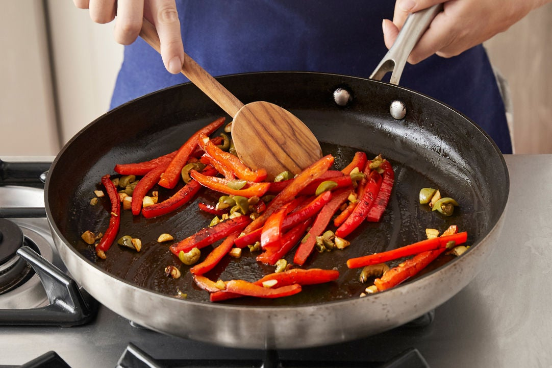 Cook the pepper: