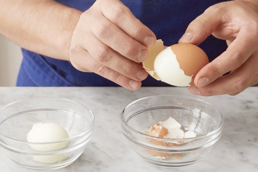 Cook & peel the eggs: