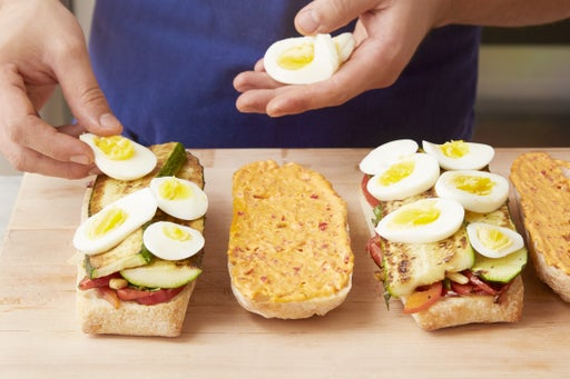 Assemble & cook the paninis: