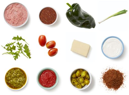 Cheesy Turkey-Stuffed Peppers with Sour Cream & Cilantro Quinoa