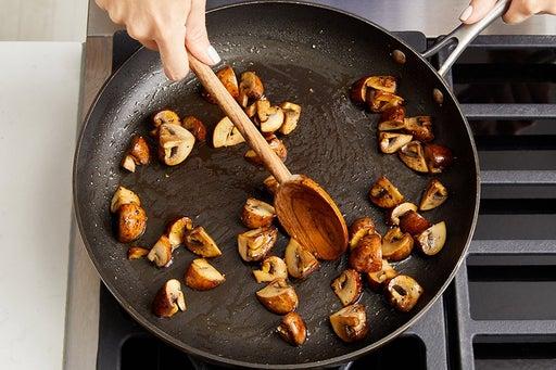 Brown the mushrooms