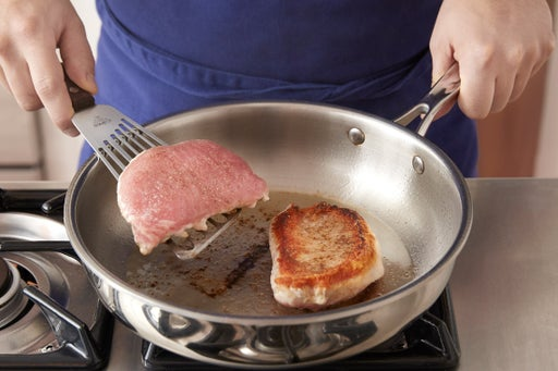 Cook the pork chops: