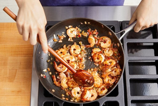 Cook the shrimp & serve your dish