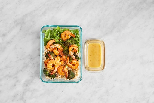 Assemble & store the Smoky-Spiced Shrimp & Barley