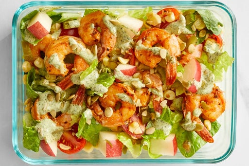 Finish & serve the Mexican Shrimp Salad