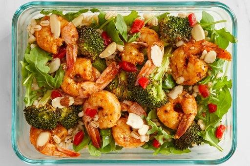 Finish & serve the Smoky-Spiced Shrimp & Barley