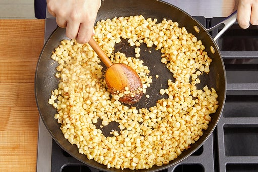 Cook & finish the corn