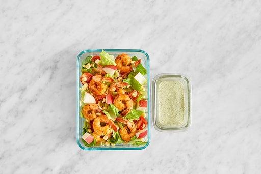 Assemble & store the Mexican Shrimp Salad