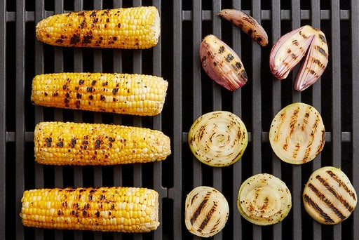 Grill the shallots & corn