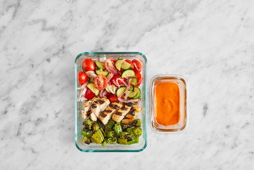 Assemble & Store the Grilled Chicken Pitas