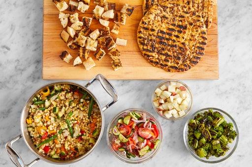 Finish the vegetables & make the pasta salad