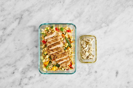 Assemble & Store the Tuscan Pork Chops