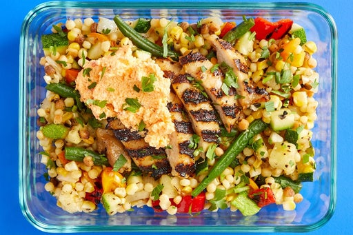 Finish & Serve the Italian Chicken Thighs & Pasta Salad