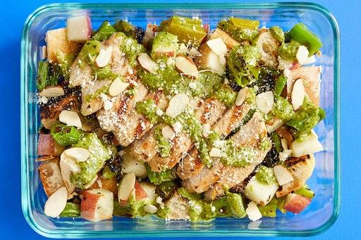 Finish & Serve the Grilled Pork Chops & Shishitos