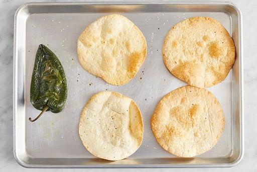 Bake the tortillas & pepper