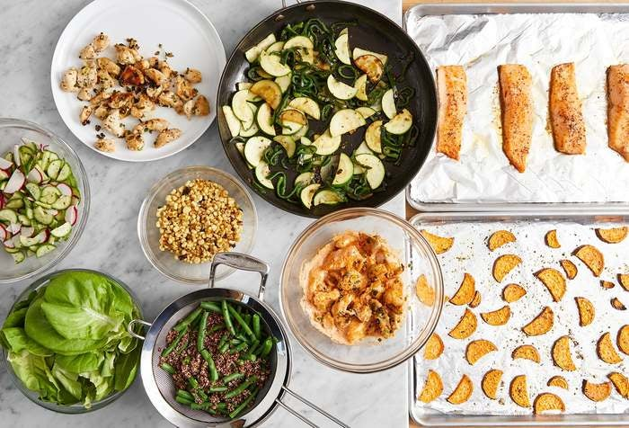Carb Conscious with Roasted Salmon & Seared Chicken