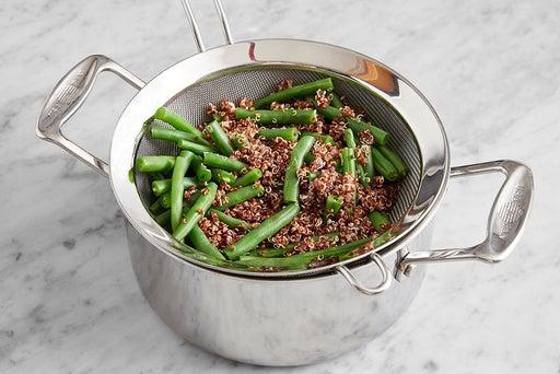 Cook the quinoa & green beans