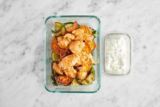 Assemble & store the Tomato Chutney Chicken