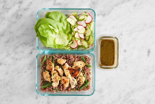 Assemble & store the Thai-Style Chicken Lettuce Cups