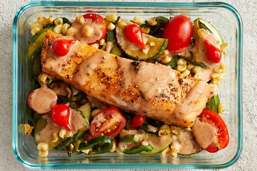 Finish & serve the Southern-Style Salmon & Veggies