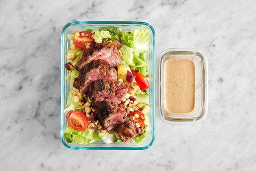 Assemble & Store the Grilled Steak & Corn Salad