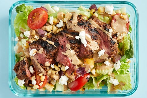 Finish & Serve the Grilled Steak & Corn Salad