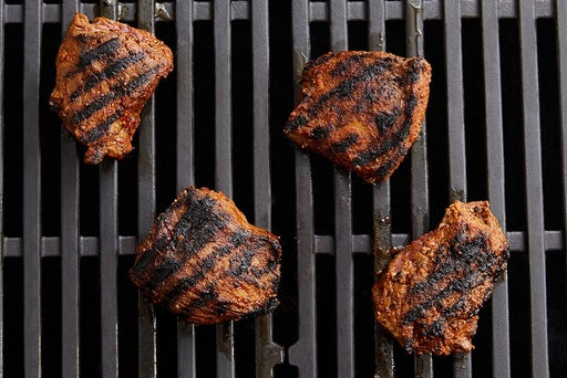 Grill & slice the steaks