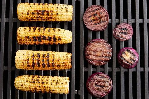 Grill the corn & onion