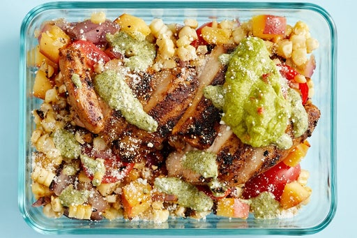 Finish & Serve the Grilled Chicken Tacos & Guacamole