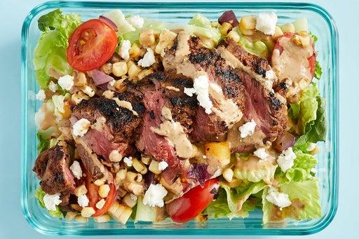 Finish & Serve the Grilled Steak & Corn Salad