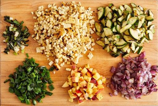 Make the corn salad & finish the rice
