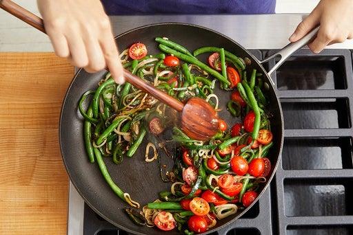 Sauté the remaining vegetables